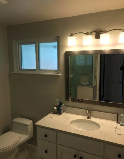 Brand New Sink, Counters & Toilet in Remodeled Bathroom