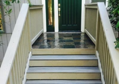 Stairs from Outdoor House Renovation in Santa Clara CA