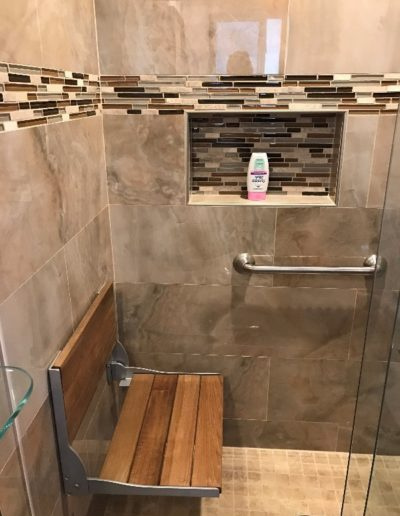 Handicap Accessible Shower in Remodeled Bathroom