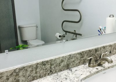 Remodeled Bathroom Mirror & Sink, San Jose CA