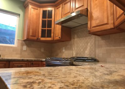 Remodeled Kitchen Counter & Stove, Santa Clara CA