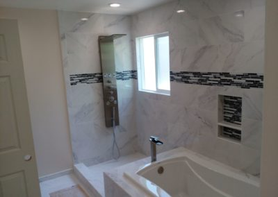 New Granite & Tile Shower Area, Bathroom Remodeling in Palo Alto CA