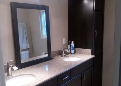 Brand New Counter & Sink, Remodeled Bathroom in San Jose CA