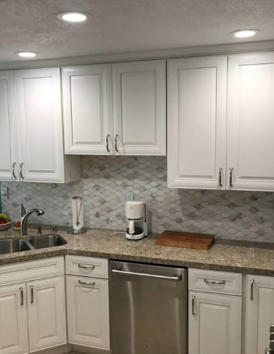 small kitchen remodel with Quartz Construction & Remodeling