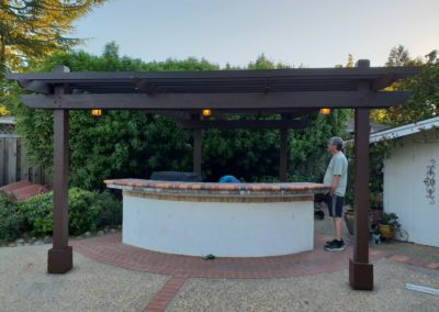 outdoor gazebo project by Quartz Construction San Jose Project