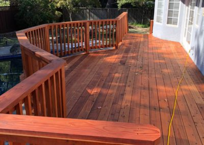 outdoor deck painting solutions by Quartz Construction San Jose