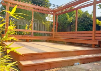 New outdoor deck project by Quartz Construction Santa Clara