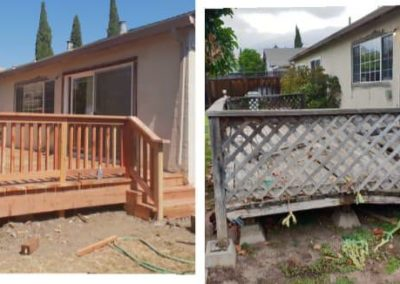 before & after deck project by Quartz Construction San Jose Pros