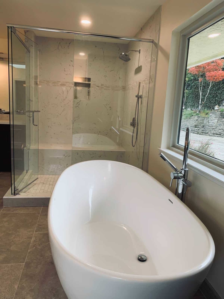bath remodel in san jose by Quartz Construction & Remodeling